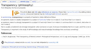 WikipediaTransparency